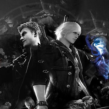 Nero Devil May Cry 5 and Devil May Cry 4 Design by AngeliaLucis