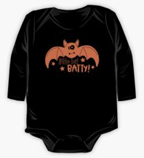 Halloween T-Shirts & Gifts: Little Bit Batty One Piece - Long Sleeve