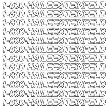1-800-HaileeSteinfeld by amandamedeiros