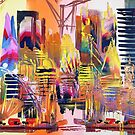 London Cityscape Abstract 637 by Eraclis Aristidou