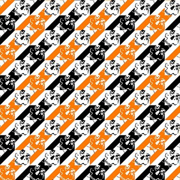 houndstooth of the dead halloween  by B0red