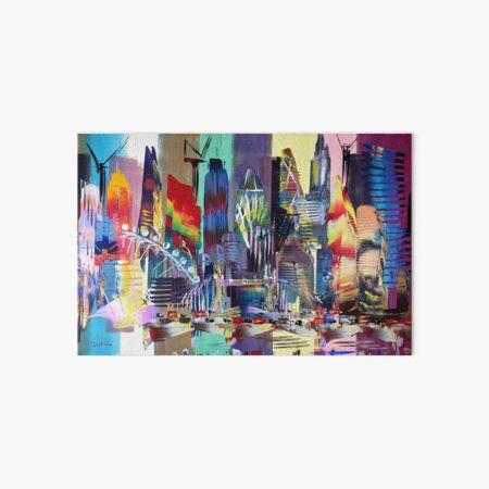 London Cityscape Skyline Abstract 625 Art Board Print