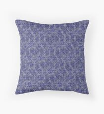 Blue inky aquarelle Throw Pillow