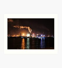 INDUSTRY UNDER THE COVER OF NIGHT - WOLLONGONG Art Print