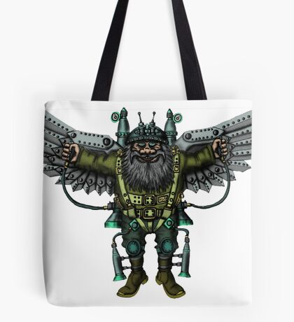 Flying Man funny cartoon drawing Tote Bag