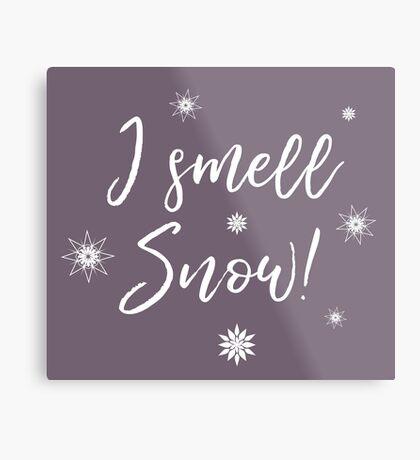 I smell Snow Metal Print