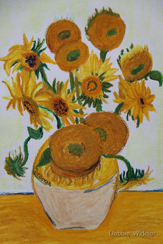 quotsunflowers oil pastelquot photographic prints by debbie