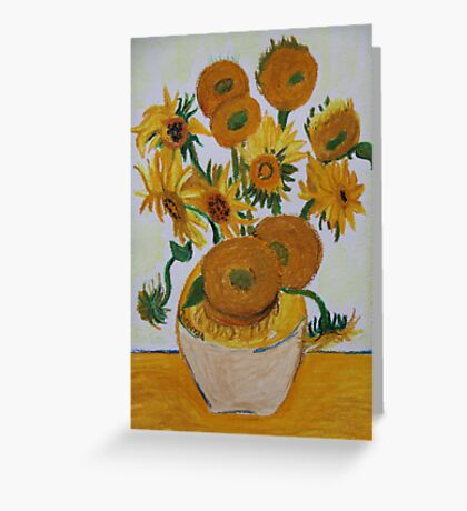 Sunflowers - Oil Pastel Greeting Card