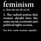 Feminism Definition Feminist Equality Womens Rights Protest by JapaneseInkArt