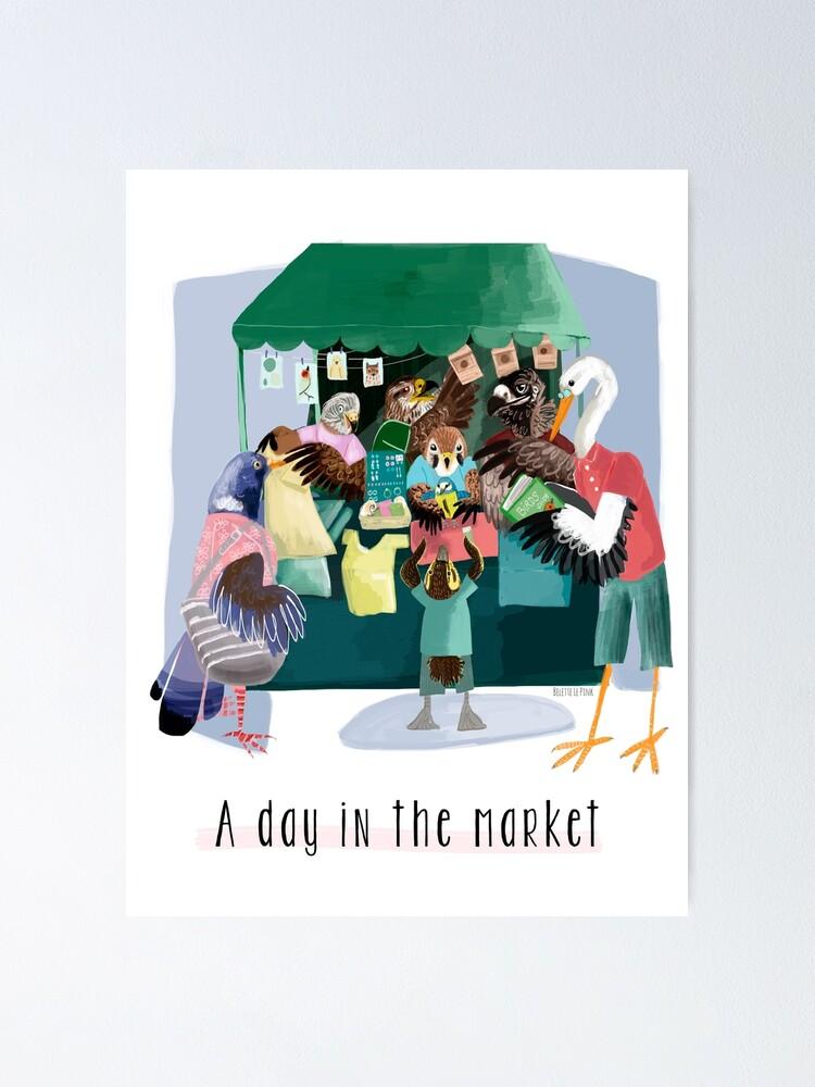 Vista alternativa de Póster A day in the market