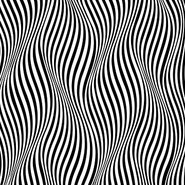 Optical illusion abstract pattern  by adelemawhinney