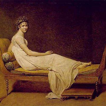 Madame Récamier Jacques Louis David by BestPaintings