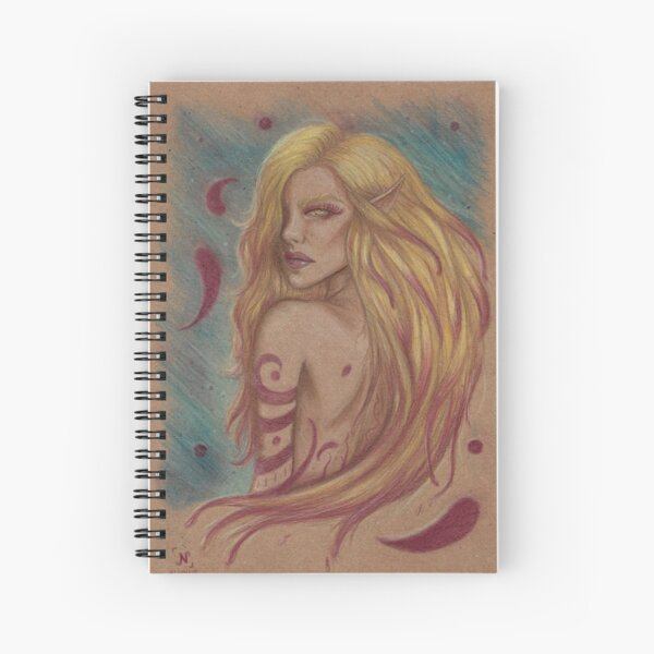 Stained Spiral Notebook