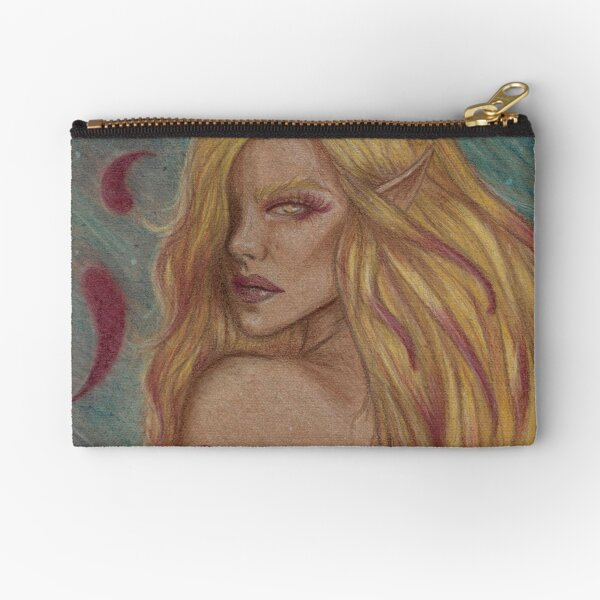 Stained Zipper Pouch