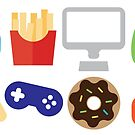 Video Game Party Snacks Pattern by SamAnnDesigns