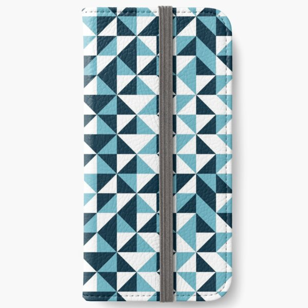Blue Triangle iPhone Wallet