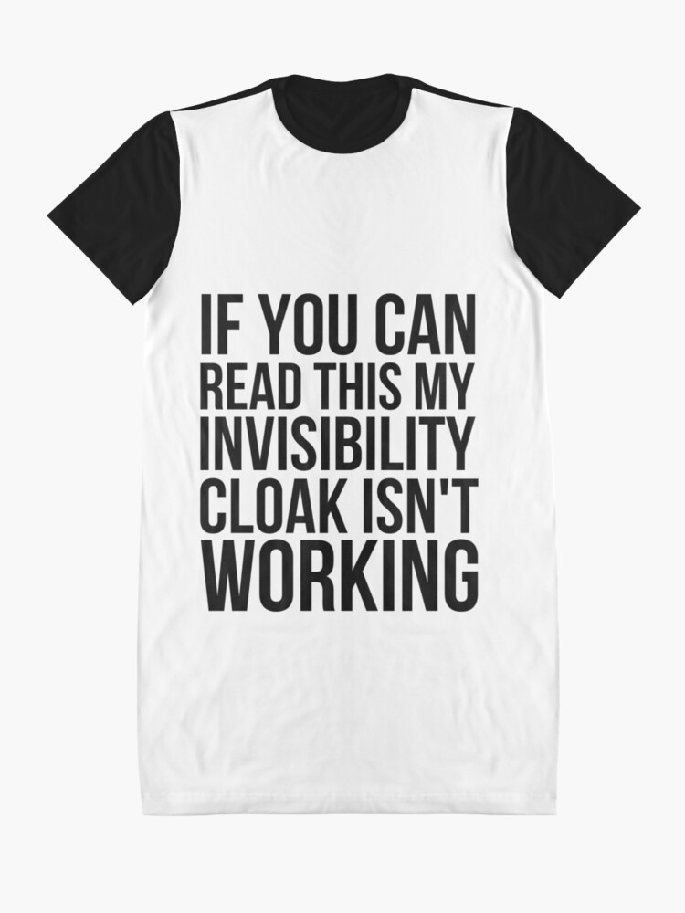 Alternate view of Can you read this? Graphic T-Shirt Dress