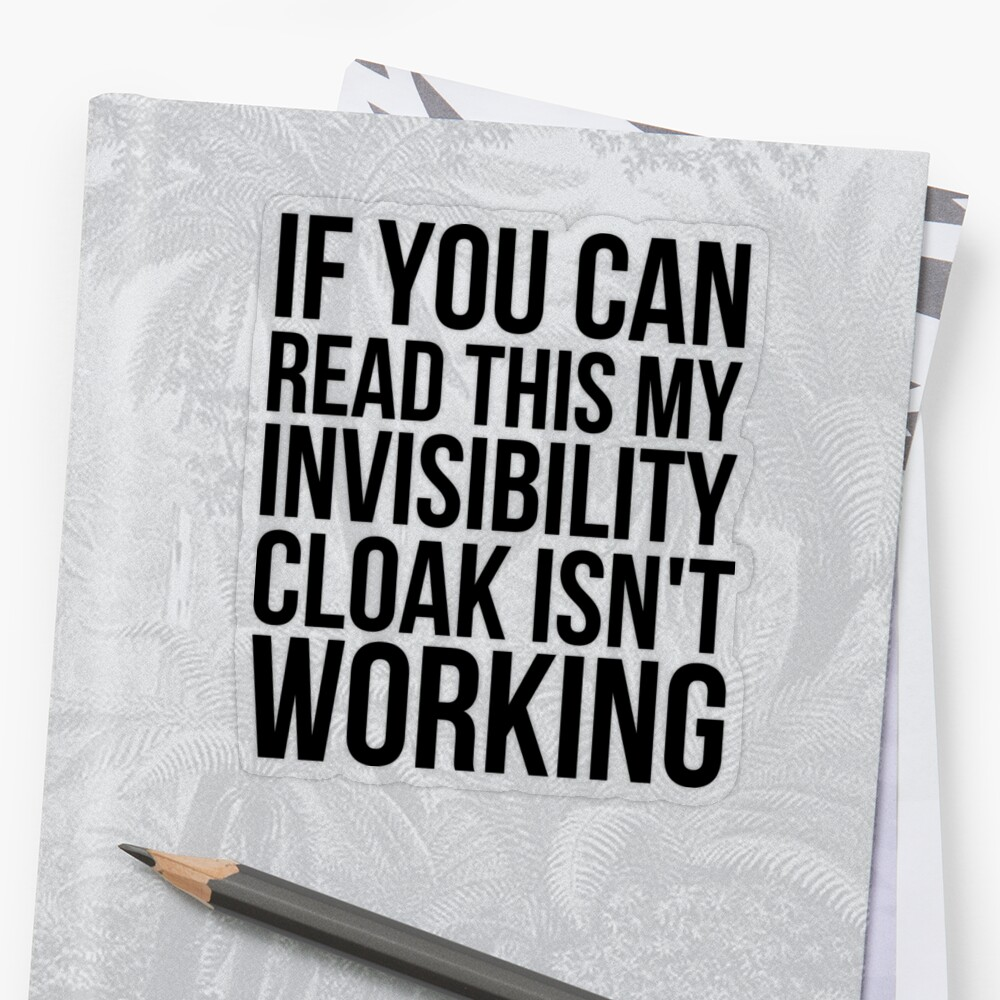 Can you read this? Sticker