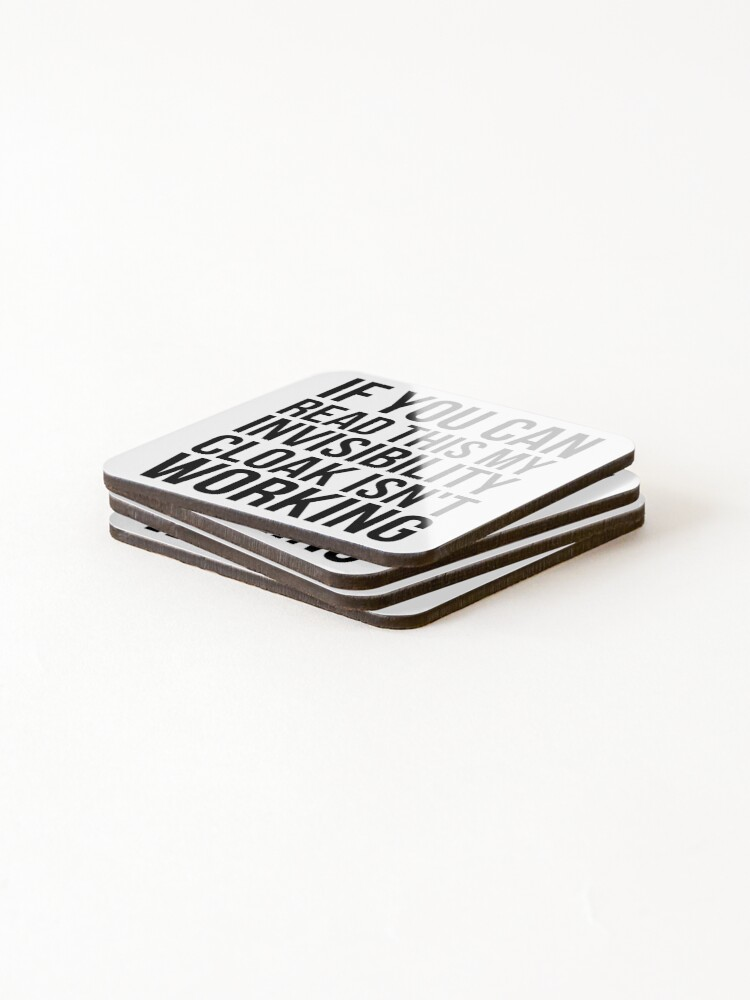 Alternate view of Can you read this? Coasters (Set of 4)