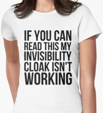 Can you read this? Women's Fitted T-Shirt