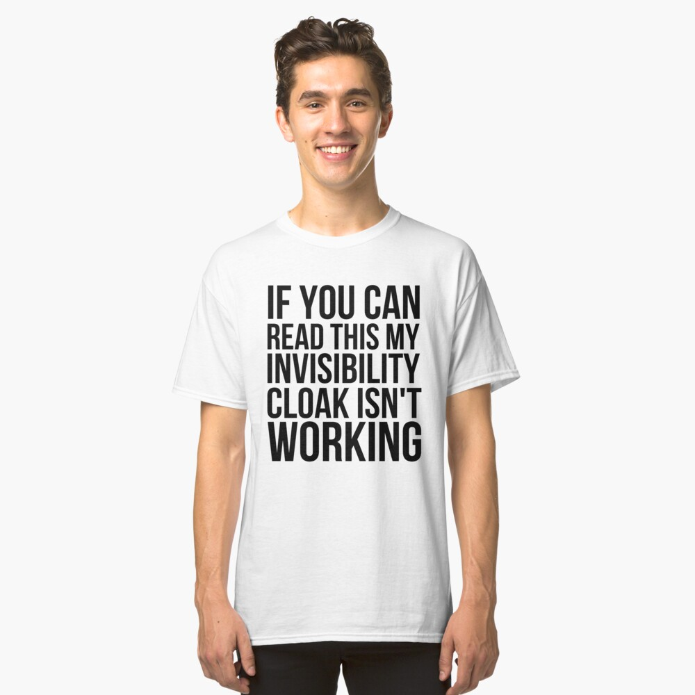 Can you read this? Classic T-Shirt