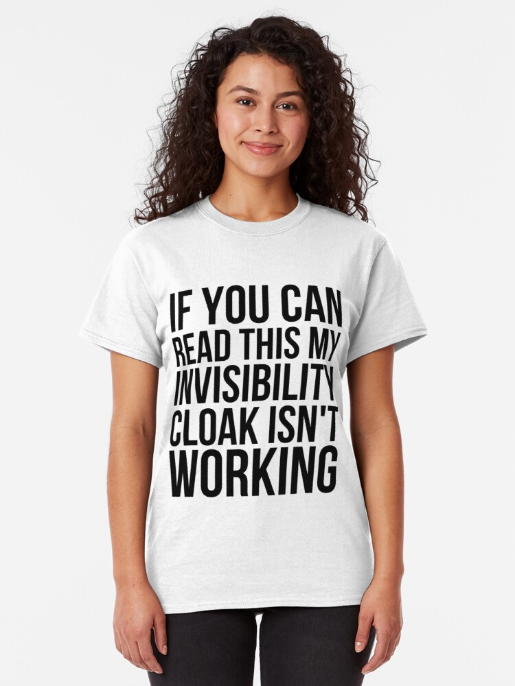 Alternate view of Can you read this? Classic T-Shirt