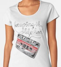 Keeping it old school boombox tape 80s music shirt Women's Premium T-Shirt