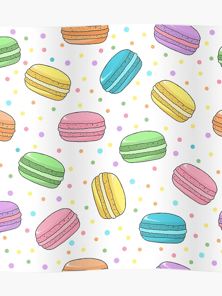 1a17724259d Pretty Pastel Coloured French Macarons Pattern