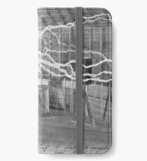 Tesla and His Coils iPhone Wallet/Case/Skin