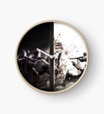The Battle Of Dark And Light Clock