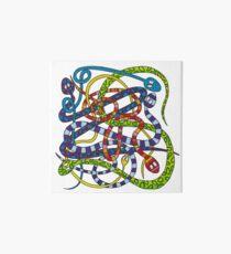 Snakes knot Art Board