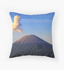 Smoke Outburst, Mt Bromo Volcano, Indonesia  Throw Pillow