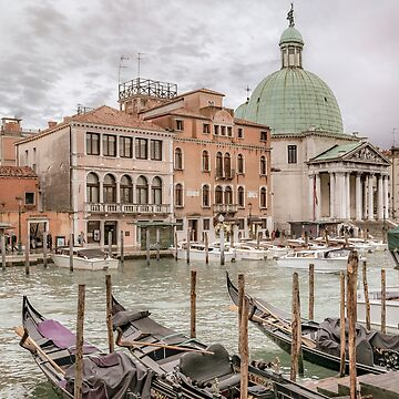 Gondolas Parked at Grand Canal, Venice, Italy by DFLCreative