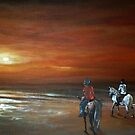 Riders on the Beach by Cherie Roe Dirksen