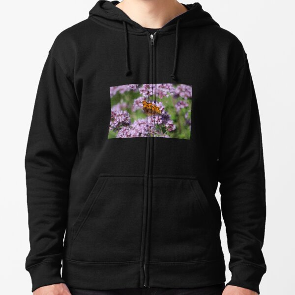 Comma Butterfly Zipped Hoodie