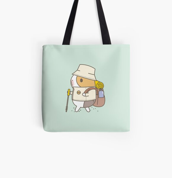 Bubu the Guinea Pig, Hiking All Over Print Tote Bag