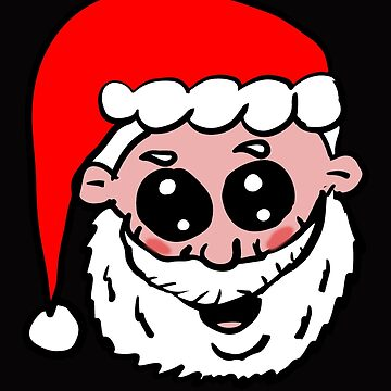 Cute Santa Head by Rajee