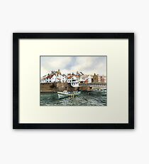 The Beck and Footbridge at Staithes Framed Print