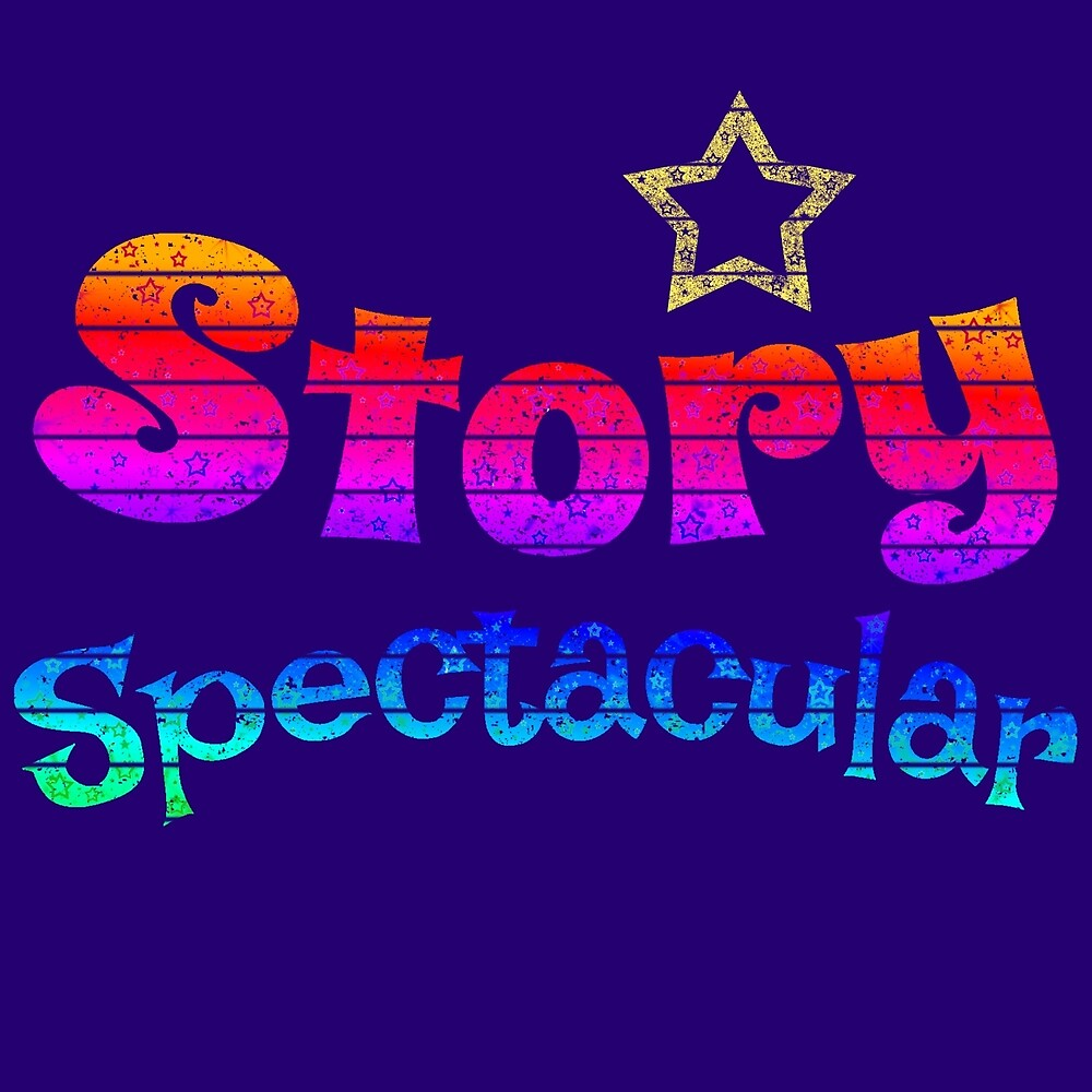 Story Spectacular Children's Podcast Logo in Rainbow by Storytacular by Storytacular