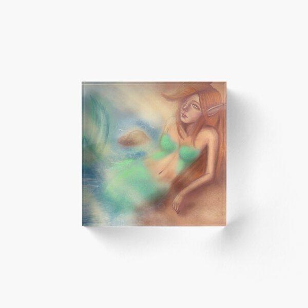 Mermaid Acrylic Block
