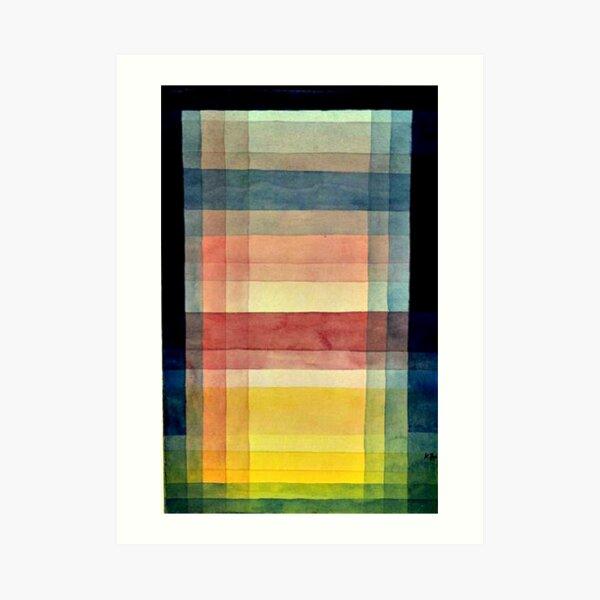 Paul Klee - Architecture of the Plain, famous painting Art Print