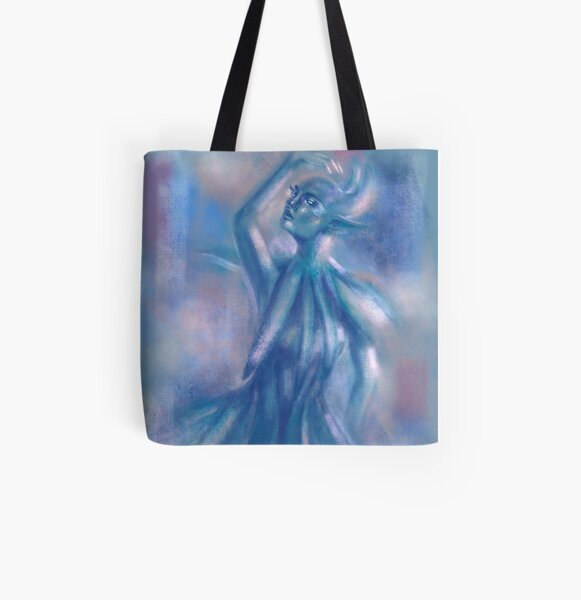 The Blue Dancer All Over Print Tote Bag