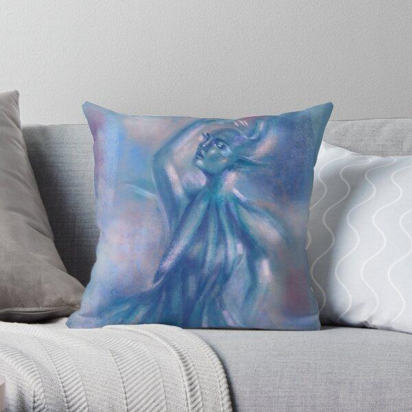 The Blue Dancer Throw Pillow