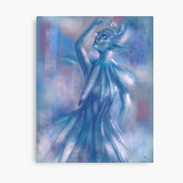 The Blue Dancer Canvas Print