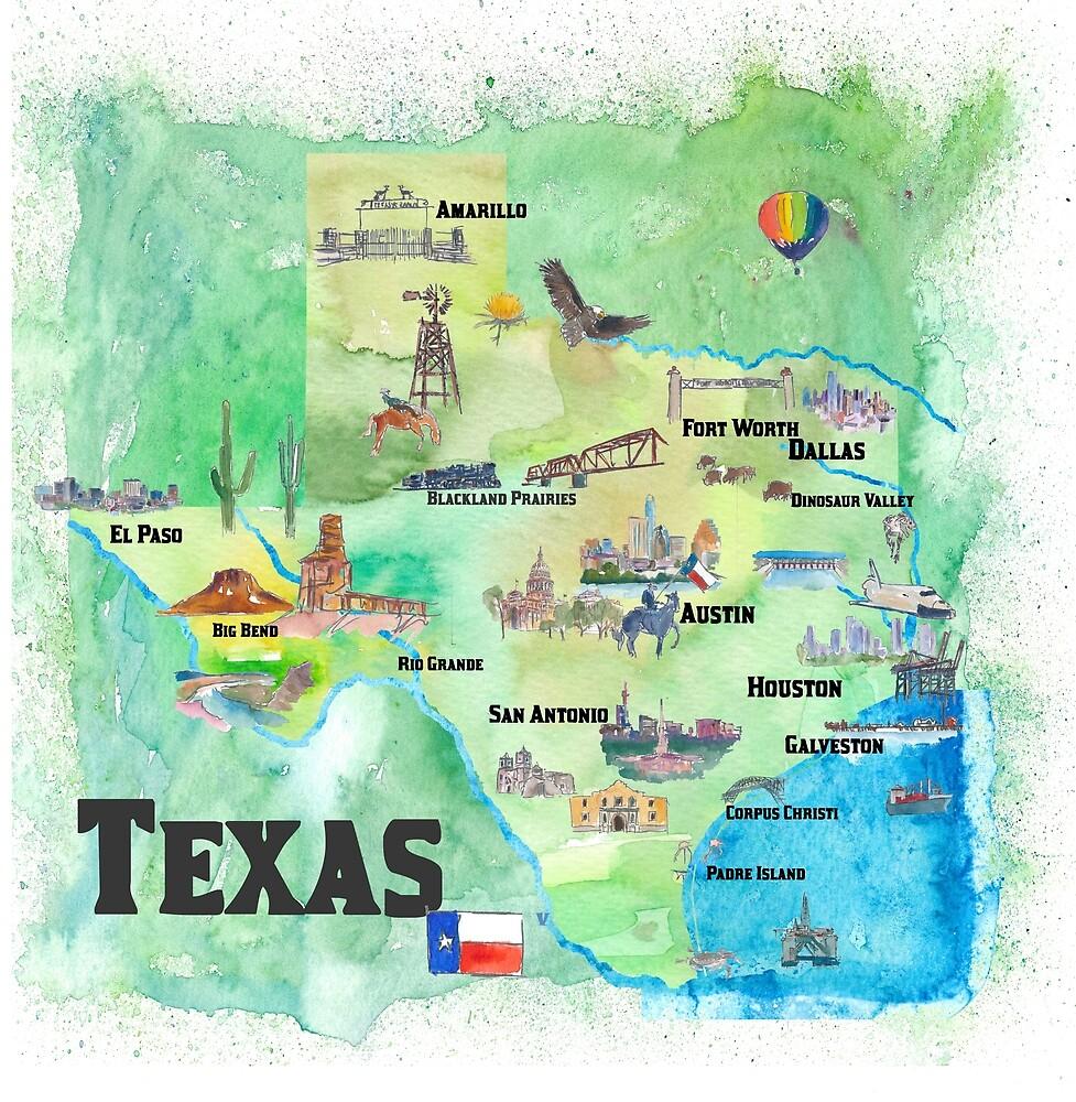Map Of Usa Texas on