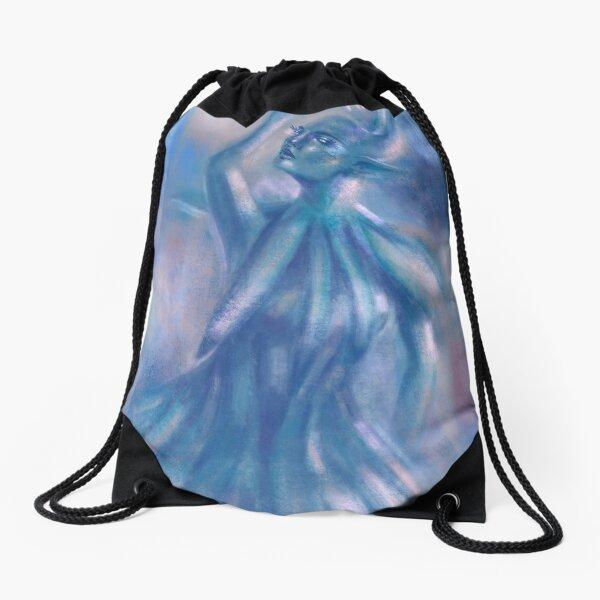 The Blue Dancer Drawstring Bag