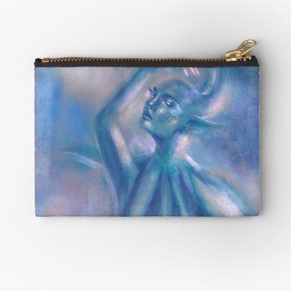 The Blue Dancer Zipper Pouch