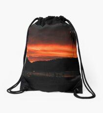 Red Sunrise. Drawstring Bag