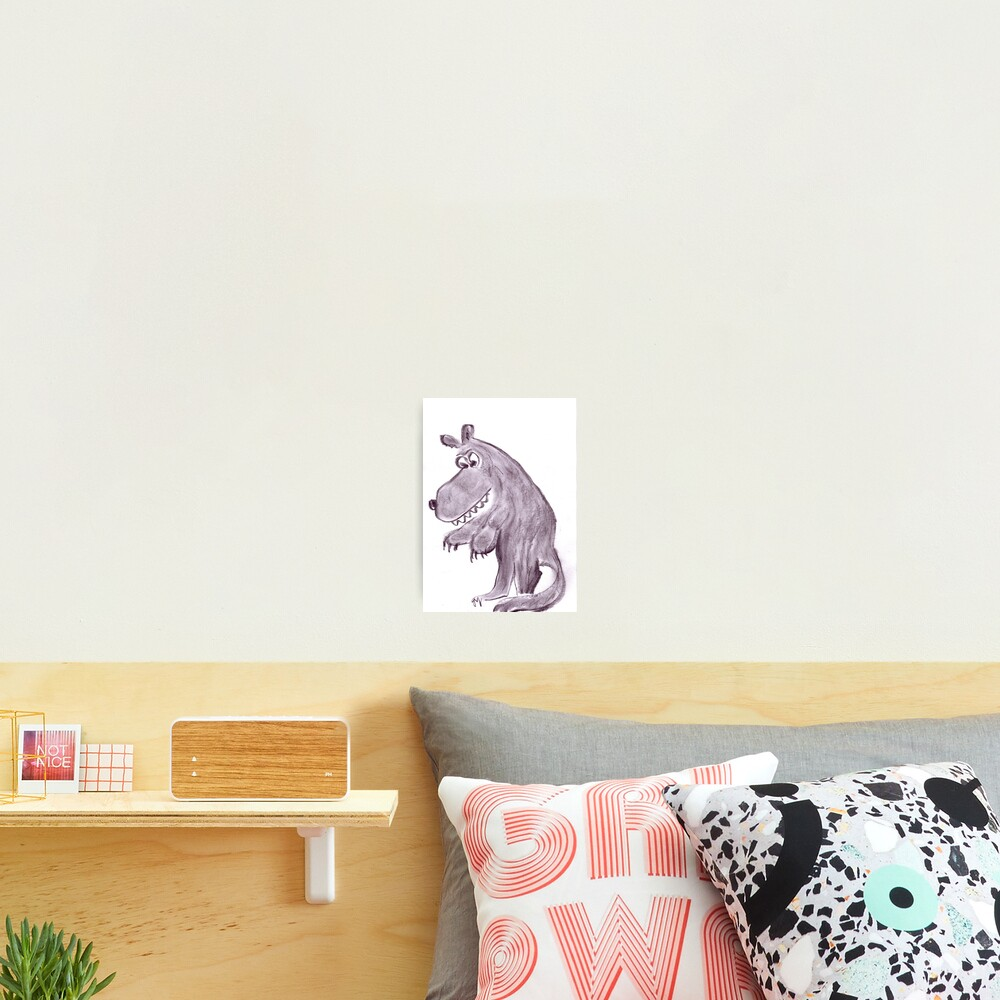 Frightening werwolf Photographic Print