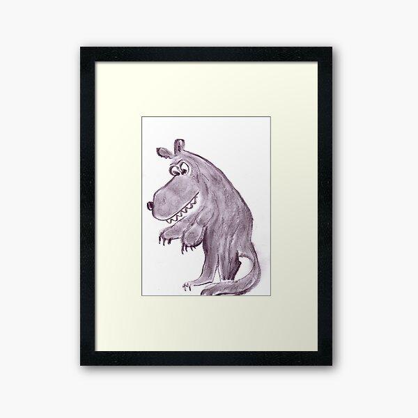 Frightening werwolf Framed Art Print